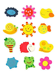 Safe Wooden Magnets Fridge Toys (Random Pattern)
