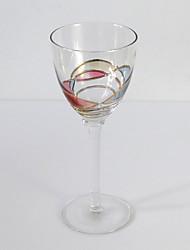 Floral élégant verre de vin, verre 6 onces