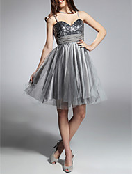 TS Couture Cocktail Party Prom Sweet 16 Holiday Dress - Sparkle & Shine A-line Princess Sweetheart Spaghetti Straps Knee-lengthTaffeta