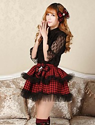 Sexy Plaid Goth Punk Lolita Schoolgirl Club Mini Red and Black skirt Lovely Cosplay