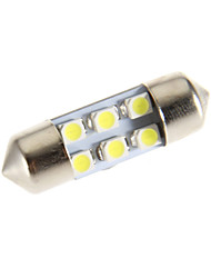 Girlande-6-LED 6000K Cool White LED Lampe für Auto (12V)