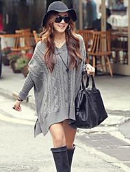 Soar lourd tressé Women'S Sweater (Gray)