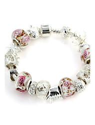 Süße 6.3cm Frauen weißem Kristall-Strang-Armband (1 PC)
