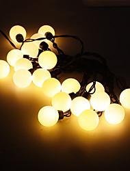 5M 15W 20-LED Warm White Light Ball Shaped LED Strip Light (220V)