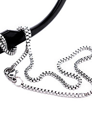 Fashion Titanium Steel Silver Plated  Necklace