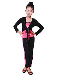 Dancewear Japanese Cotton Ruffle V Neck Solid Color Ballroom Dance Wrap For Kids(More Colors)
