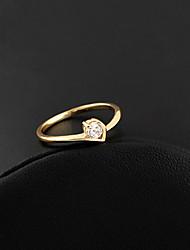 XINXIN Frauen-18K Gold Zirkon Ring J0321