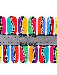 YeManNvYou®28PCS Chromatic Shoes Full Cover Nail Stickers K Sery No.1011 (2x27PCS)