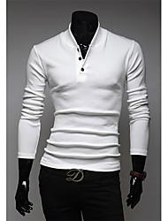 v-Stand Kragen Schlankheits-Polo-Shirt (weiß)