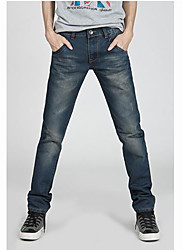 Men's Work Fashion Long Jeans