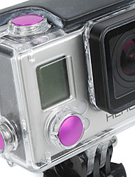 Accesorios GoPro Botón Para Todo aleación de aluminio rosa