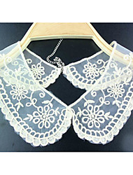 Women's Chiffon Embroidery Floral Collar