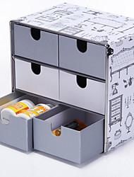 Fashion Grey 6 Drawers Paper Storage Cabinet