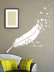 Still Life Feather Decorative Wall Stickers