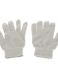 Cycling Unisex Cotton+Polyester Light Gray Screen Touch Gloves