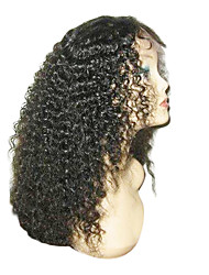 "16"" 100% Virgin Brazilian Kinky Curly Lace Front Wigs"