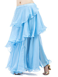 Belly Dance Skirts Women's Training Chiffon Ruffles / Tiers 1 Piece Skirt
