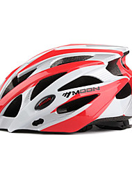 LUNA Ciclismo Red + Silver PC + EPS 25 Vents MTB Casco Protector