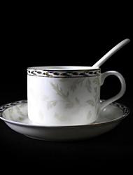 Argento Lily tazza di caffè, porcellana 5 once