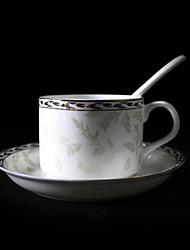 Silver Lily Coffee Mug,Porcelain 5oz