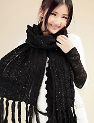Xiaerbeiluo Simple Knitted Scarf(Black)