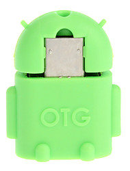 Micro USB 2.0 naar USB 2.0 M / V OTG Adapter Green