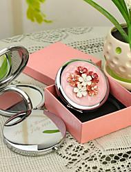 Cadeau personnalisé Shivering Rose Style Chrome miroir compact