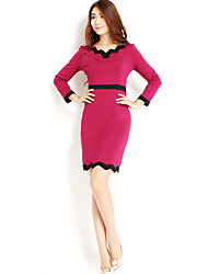 AMC Slim Bodycon Dress(Red)