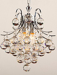 Max 60W Pendant Light ,  Modern/Contemporary Chrome Feature for Crystal Plastic Living Room / Bedroom