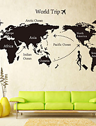 Landscape Wall Stickers Plane Wall Stickers Decorative Wall Stickers,Self-adhesive Plastic Material Washable / Removable Home Decoration