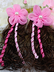 Big Flower Pearl Waving Belt Hairpin for Pets Dogs (Random Color)