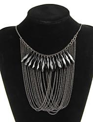 Элегантный сплав Черный акрилом Женская ожерелье
