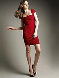 Vendeur chaud rouge élégant à manches courtes Slim sexy robe de bandage