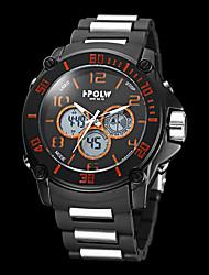 Hombre de múltiples funciones de la Ronda Militar Dial ABS plástico banda analógico-digital reloj de pulsera (colores surtidos)