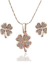 Women's 18K Rose Gold (Necklace&Earrings) Jewelry Sets