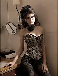 Sexy Corsetto senza bretelle da donna con G-Strings