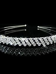 Flor do casamento nupcial Meninas Meninos Crystal Pearl Faixa de Cabelo Headband Tiara