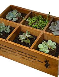 Retro Wood Multifunctional Storage Box - 6 Grids