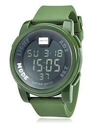 Мужской Спортивные часы Цифровой LCD / Календарь / Секундомер Группа Черный / Белый / Зеленый / Желтый бренд-