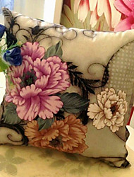 Oriental País Blooming Flores Pillow Decorativo Com Insert