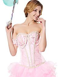Jacquard Zipper corset shapewear avec la perle chaîne