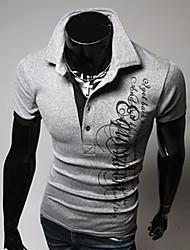 Men's Casual Shirts , Cotton Blend Casual Kafuwei