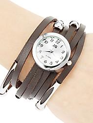Dames Modieus horloge Armbandhorloge Kwarts PU Band Bohémien Zwart Wit Rood Bruin Merk