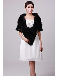 Fur Wraps / Wedding  Wraps Shrugs Faux Fur Black Wedding / Party/Evening