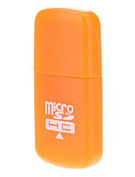 2.0 Micro SD Memory Card Reader USB (Naranja)