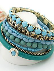 Böhmen Armband mehrschichtige Ozeanblau Design Strang Armband
