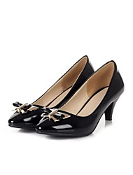 PU Women's Stiletto Heel  Pointed Toe Pumps  Party / Evening Shoes  with Metal Bowknot More Colors