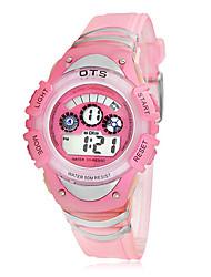 Multi-fonctionnel cadran numérique pour enfants Rubber Band Wrist Watch