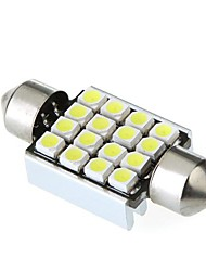 36 milímetros 16 1210 SMD LED Canbus White Car Interior Dome Festoon Lâmpada Lâmpada