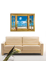 Vista Mar removível New 3D Window Film Wall Stickers